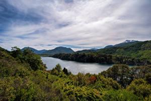 Bilder Argentinien Gebirge See Wolke Patagonia, Seven Lakes Road Natur
