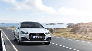 Picture Audi Roads Front White Sedan S5, Sportback, TDI, 2019 Cars