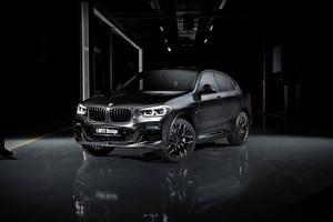 Sfondi desktop BMW Crossover Nero 2020 Larte Design BMW X4 Auto