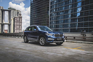 Wallpaper BMW Crossover Blue Metallic 2020 X3 xDrive30e xLine automobile