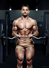 Wallpapers Bodybuilding Men Evgeniy Bulatov Barbell Staring Glance Sport