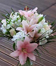 Wallpapers Bouquets Lilies Alstroemeria flower