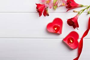 Fotos Kerzen Herz Vorlage Grußkarte Blüte