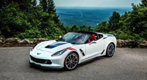 Picture Chevrolet White Roadster C7 Corvette, Grand Sport, 2016 auto