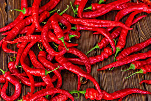 Pictures Chili pepper Many Red