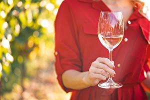 Bilder Hautnah Bokeh Weinglas Hand