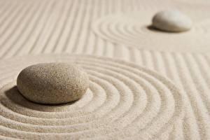 Pictures Closeup Stones Sand Circle zen