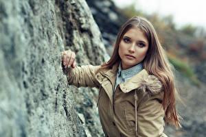 Hintergrundbilder Blick Haar Unscharfer Hintergrund Braune Haare Dasha, Evgeniy Bulatov Mädchens