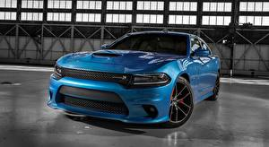 Image Dodge Front Metallic Sedan Light Blue Charger R/T, Scat Pack, 2015 auto
