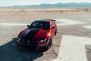 Wallpapers Ford Red Mustang Shelby GT500 2020