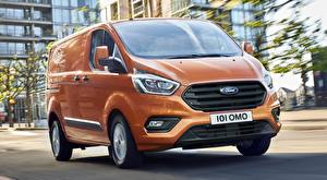 Photo Ford Orange Van Transit Custom, 2017 Cars