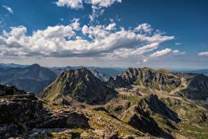 Hintergrundbilder Frankreich Gebirge Himmel Felsen Wolke  Natur