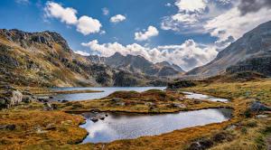 Hintergrundbilder Frankreich Berg Steine Herbst Wolke Pyrenees, Aston Natur