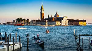 Bilder Italien Boot Kathedrale Venedig San Giorgio Maggiore