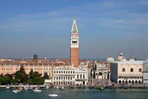 Fotos Italien Kathedrale Motorboot Venedig St. Mark's Cathedral Städte