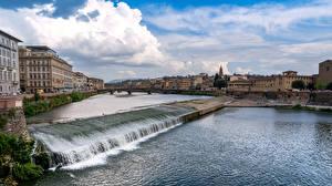 Bilder Italien Florenz Gebäude Flusse Pescaia di Santa Rosa