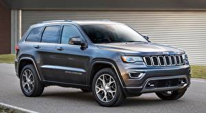 Wallpapers Jeep Sport utility vehicle Gray Grand Cherokee, Sterling Edition, 2017 automobile