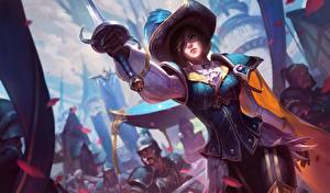 Sfondi desktop League of Legends Cappello Spada Fiora, swordsman Ragazze