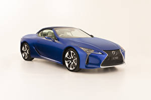 Images Lexus Cabriolet Blue Metallic White background LC 500 Convertible, AU-spec, 2020