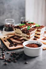 Picture Little cakes Coffee Dessert Cocoa solids Grain Cutting board Tiramisu