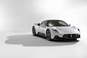 Wallpaper Maserati White Metallic MC20, 2020 auto
