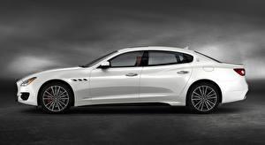 Image Maserati Side White Sedan Quattroporte GTS, GranSport, US-spec, 2018, Luxury Cars