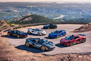 Hintergrundbilder McLaren Viel Roadster 2019 MSO 600LT Spider Pikes Peak Collection automobil