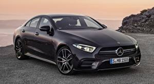 Papel de Parede Desktop Mercedes-Benz Preto Sedan Metálico AMG, CLS, 53 4MATIC, 2018 carro