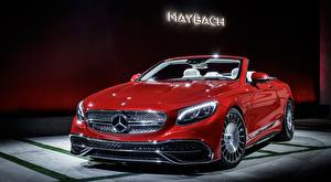 Picture Mercedes-Benz Maybach Red Convertible Front S 650, Cabriolet, 2017