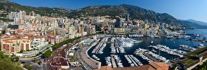 Wallpaper Monaco Monte Carlo Berth Powerboat Yacht Bay Port Hercules Cities