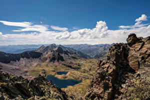 Fotos Berg Andorra Felsen Wolke Coma Pedrosa National Park