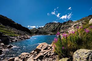 Fotos Gebirge See Stein Andorra Pyrenees, Juclar Lake Natur