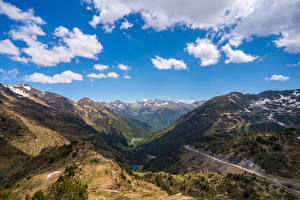 Bilder Berg Himmel Straße Andorra Wolke  Natur