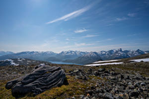 Images Norway Mountain Stones Sky  Nature