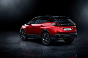 Wallpapers Peugeot Crossover Red Metallic 3008 GT, 2020 auto