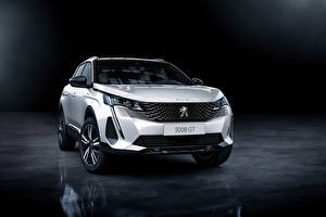 Pictures Peugeot CUV White Metallic Front 3008 HYBRID4, 2020 automobile