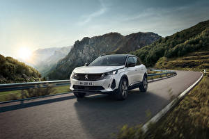Pictures Peugeot Roads Mountain Motion Crossover White Metallic 3008 HYBRID4, 2020 auto Nature