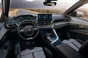 Fonds d'écran Peugeot Salons Volant directionnel Crossover 3008 HYBRID4, 2020