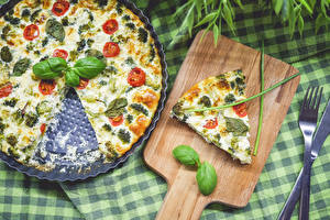 Picture Pizza Piece Basil Food