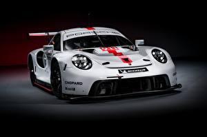 Hintergrundbilder Porsche Weiß RSR 2019