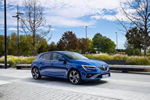 Hintergrundbilder Renault Blau Metallisch Megane R.S. Line, 2020 automobil