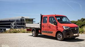 Wallpaper Renault Lorry Red Master, Double Cab Tipper, 2019