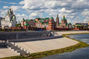 Hintergrundbilder Russland Tempel Kirchengebäude Treppe Yoshkar-Ola