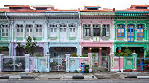 Picture Singapore Building Street Design Fence Katong Cities