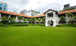 Photo Singapore Building Hotel Lawn Raffles Hotel Cities