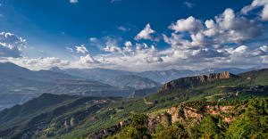 Image Spain Mountain Scenery Sky Clouds La Nou, Catalonia