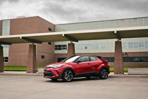 Pictures Toyota Crossover Red Metallic C-HR, North America, 2019 auto