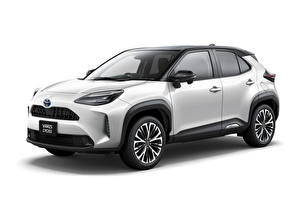 Pictures Toyota CUV Metallic White background Toyota Yaris Cross Hybrid Z, JP-spec, 2020 auto