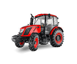 Fotos Traktor Rot Weißer hintergrund