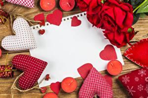 Fotos Valentinstag Rosen Kerzen Vorlage Grußkarte Herz Blüte